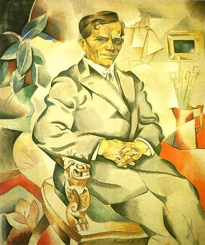 1919 Portrait of the painter Kolesnikov