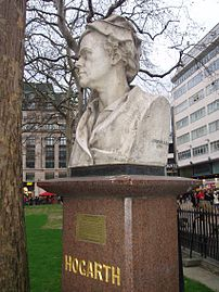 Hogarth's Bust in Leicester Square