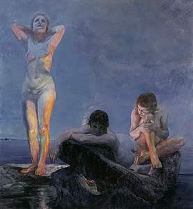 Die blaue Stunde (L'heure bleue), 1890; Öl auf Leinwand. Leihgeber: Museum der bildenden Künste Leipzig.