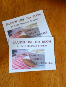 Calling cards for The Branch Line Tea Room