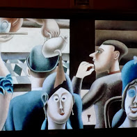 Extract from a painting by Edward Burra