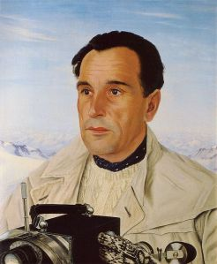 Luis Trenker mit Kamera, 1938