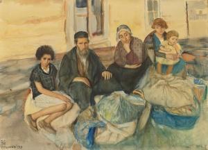 """Maurycy Minkowski """"The Family""""1927"""