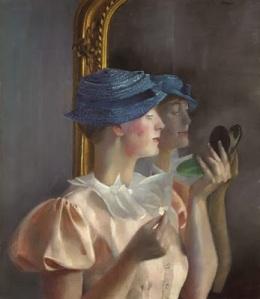 Londa vor dem Spiegel Felixmueller 1933