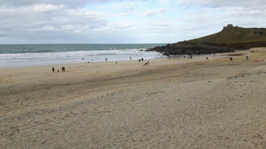 Porthmeor Beach, St Ives in February