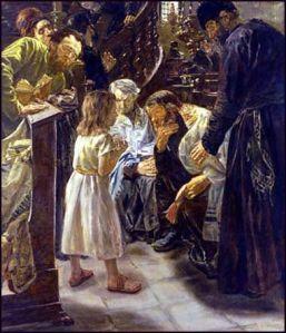 Max Liebermann -[Der zwölfjährige Jesus im Tempel] (1879)