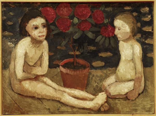 P.Modersohn-Becker,2 sitzende Kinderakte -  -
