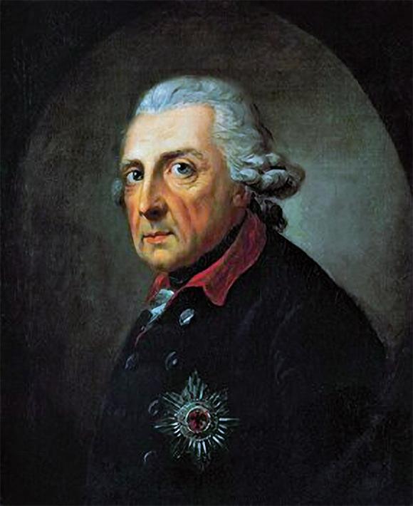 Alfred Graff´s portrait of Friedrich II (1781)