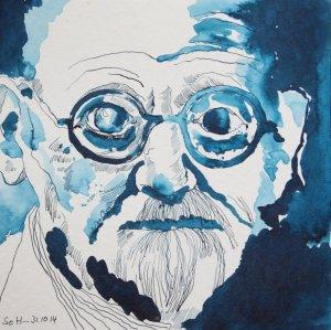 Mein Vorstellung von Siegmund Freud (c) Zeichnung von Susanne Haun