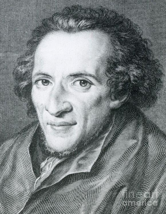 Portrait of Moses Mendelssohn by Johann Gotthard Müller.