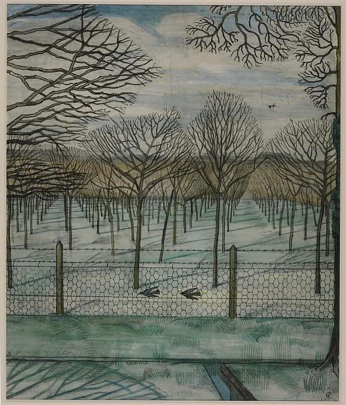 The Cherry Orchard 1917 by Paul Nash 1889-1946