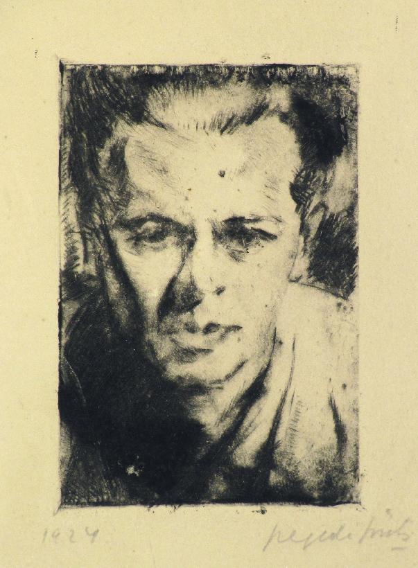 István Szegedi Szüts, a self-portrait at the age of about 32