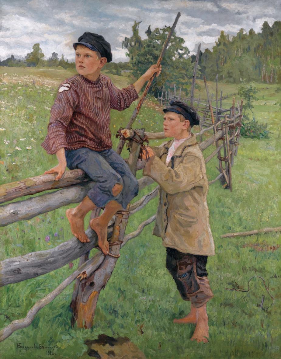 Nikolai Bogdanov-Belsky: Country Boys(1916)