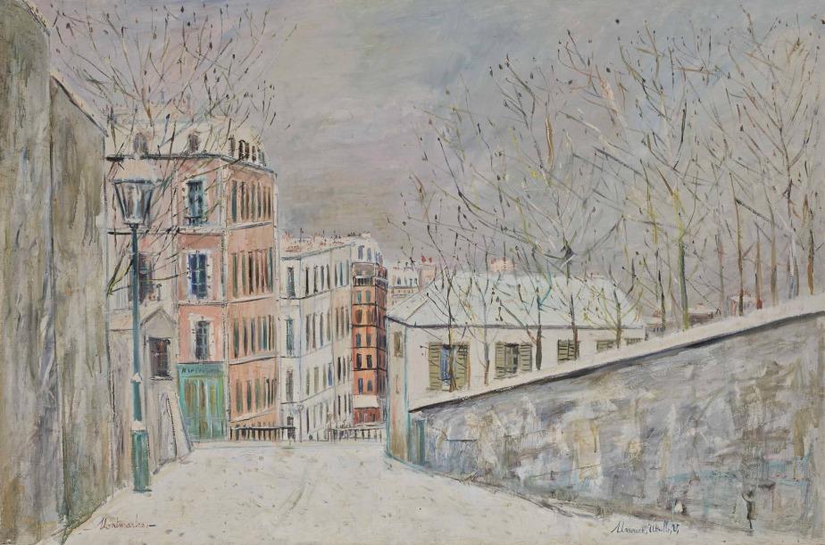 Maurice Utrillo: La rue du Mont-Cenis sous la neige(1935)